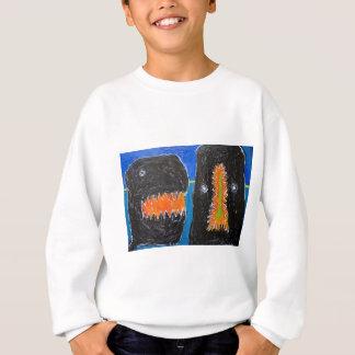 叫び、かむこと(純真な表現主義) スウェットシャツ