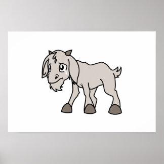 叫ぶ灰色の若いヤギの子供の動物権日 ポスター