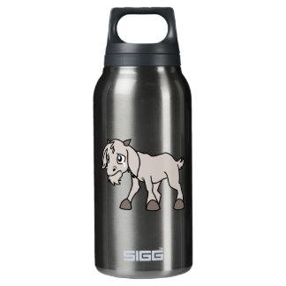 叫ぶ灰色の若いヤギの子供の動物権日 断熱ウォーターボトル