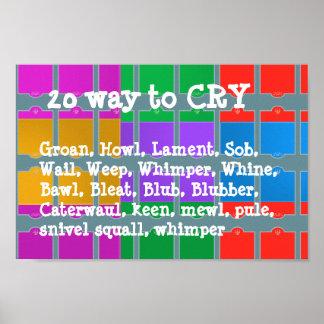 叫ぶ20の方法: 驚異色マニア ポスター