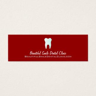 可変性歯科医のアポイントメントカード色 スキニー名刺