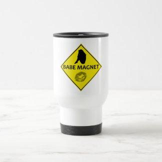 可愛い人の磁石の黄色の交通標識のタンブラー トラベルマグ