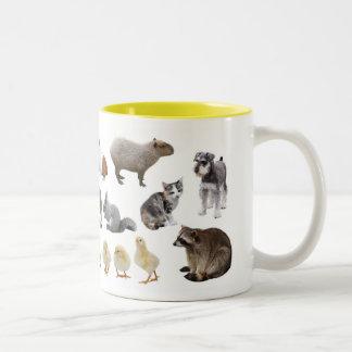可愛い動物マグカップ ツートーンマグカップ