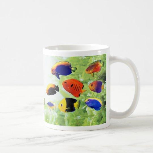 可愛い小型ヤッコの仲間(Centropyge)のマグカップ 2 コーヒーマグカップ