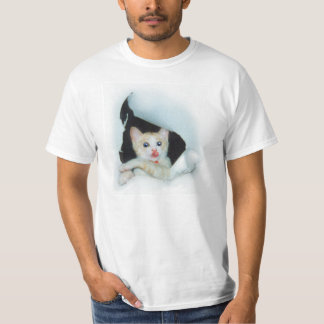 "可愛い猫[""Be with you."" a cat 'kawaii'] Tシャツ"