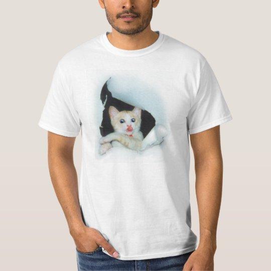 """可愛い猫[""""Be with you."""" a cat 'kawaii'] Tシャツ"""