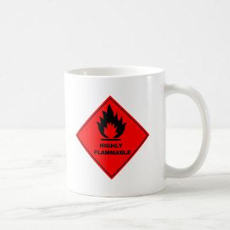 可燃性の警告標識 コーヒーマグカップ
