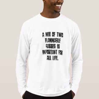 可燃性ガス Tシャツ