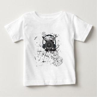 可聴周波スピーカー4が付いている音楽ポスター ベビーTシャツ