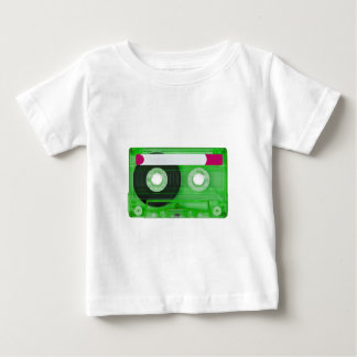 可聴周波密集したカセット ベビーTシャツ