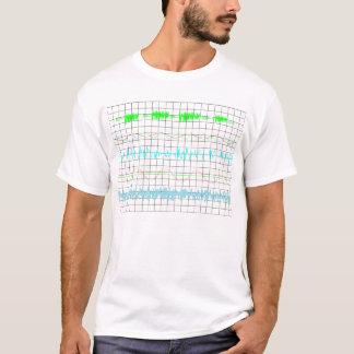 可聴周波波形の背景、抽象美術 Tシャツ