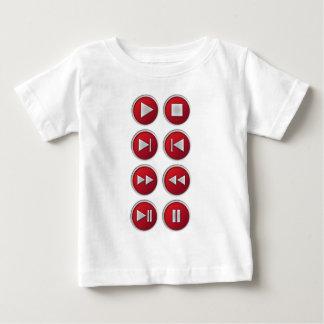可聴周波/ビデオボタン ベビーTシャツ
