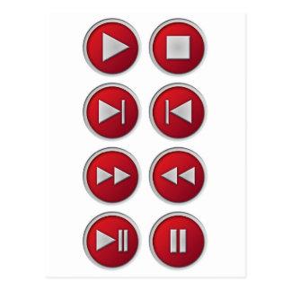 可聴周波/ビデオボタン ポストカード