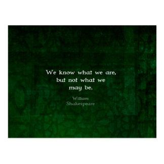 可能性についてのウィリアム・シェイクスピアの引用文 ポストカード