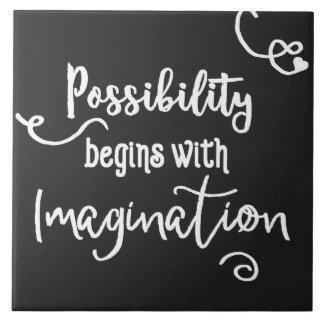 可能性はやる気を起こさせるな黒板の文字を始めます タイル
