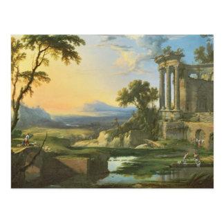 台なしのイタリアンな景色 ポストカード