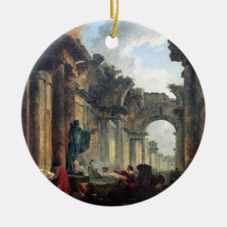 台なしのルーバー- 1796年の壮大なギャラリー 陶器製丸型オーナメント