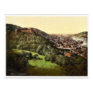 台地から、Baden見られる、ハイデルベルクドイツ ポストカード