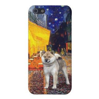 台地のカフェ-柴犬 iPhone 5 カバー