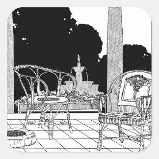 台地のヤナギの椅子 スクエアシール