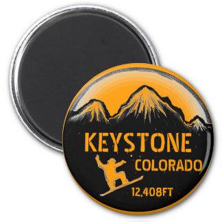 台形コロラド州のオレンジスノーボードの芸術の磁石 マグネット
