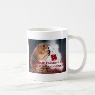 台形プレーリードッグのバレンタインデー コーヒーマグカップ