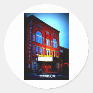 台形劇場- TOWANDA、ペンシルバニア ラウンドシール