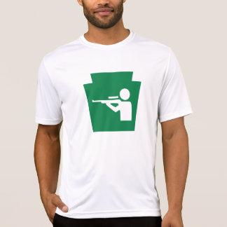 台形狩り-男性Microfiber T Tシャツ