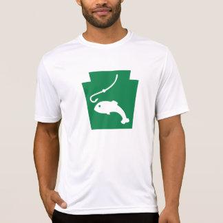台形魚-男性Microfiber T Tシャツ