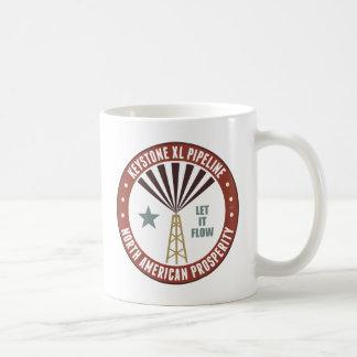 台形XLのパイプライン コーヒーマグカップ