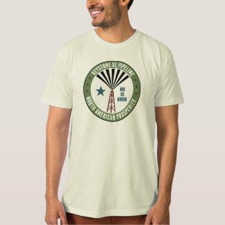 台形XLのパイプライン Tシャツ