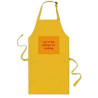 台所から私は調理しています ロングエプロン
