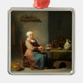 台所の女性 メタルオーナメント