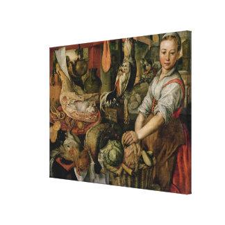 台所インテリア1566年 キャンバスプリント