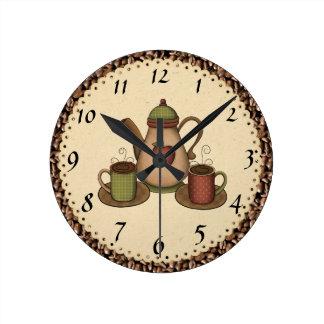 台所コーヒー時計 ラウンド壁時計