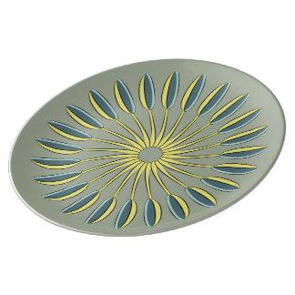 台所スプーンの円 磁器プレート