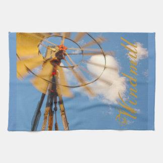 台所タオルのワイオミングの大きい風車 キッチンタオル