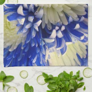 台所タオルの-青及び白人のくものミイラ キッチンタオル