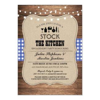 台所パーティーの婚約のシャワーの招待に貯蔵して下さい カード