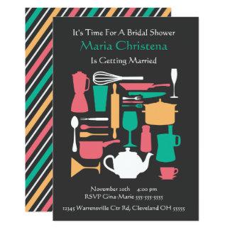 台所ブライダルシャワーの招待状のまわり カード