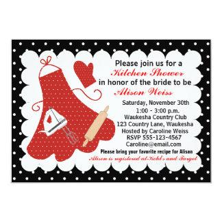 台所ブライダルシャワーの招待状 カード