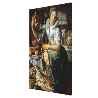 台所女中(キリスト、メリーおよびマーサと) c. キャンバスプリント