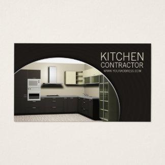 台所建築業者の高級家具のCarperntryブラウンカード 名刺