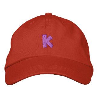台所技術の手紙K 刺繍入りキャップ