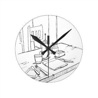台所時計 ラウンド壁時計