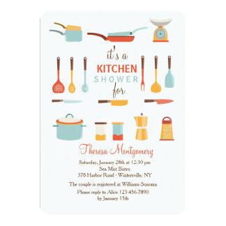 台所用具のシャワーの招待状 カード