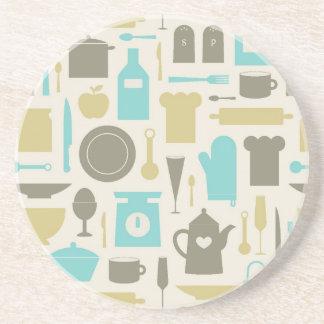 台所用具のパターン コースター