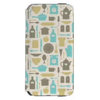 台所用具のパターン INCIPIO WATSON™ iPhone 6 ウォレットケース