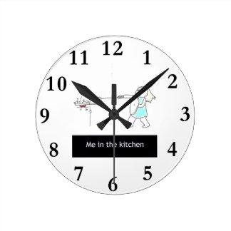 台所 ラウンド壁時計