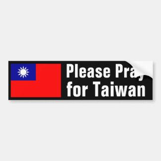 台湾のために祈って下さい バンパーステッカー